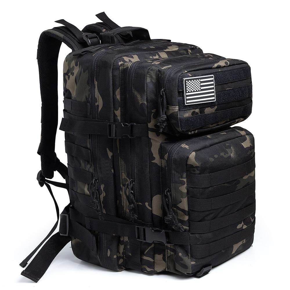 50L التمويه الجيش على ظهره الرجال العسكرية التكتيكية حقائب الاعتداء مول على ظهره الصيد الرحلات حقيبة الظهر مقاوم للماء علة خارج حقيبة