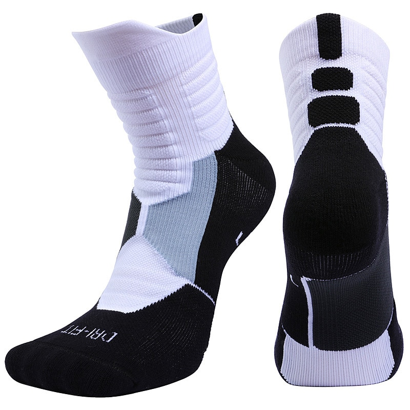 3 pares meias esportivas correndo para a corrida mtb bicicleta de estrada meias de basquete algodão joelho-meias de ciclismo masculinas altas geométricas