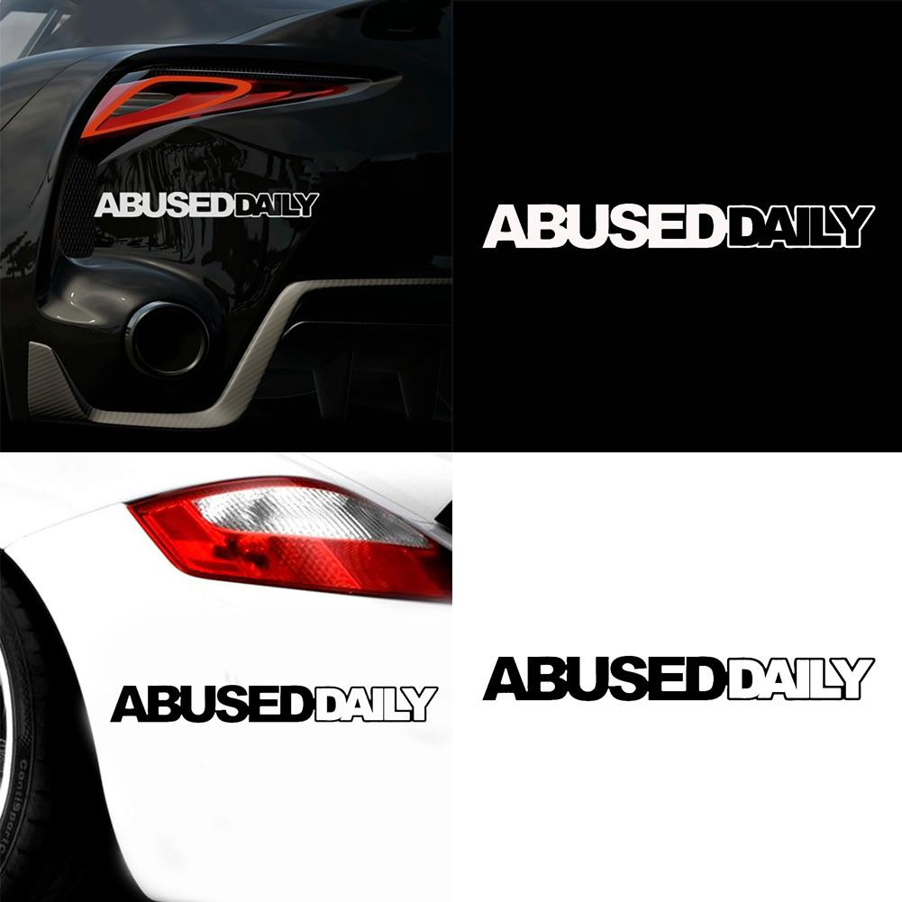 80% HOT SALES Abused Daily Letter Car Vehicle Body Window Reflective Decals Sticker Decoration