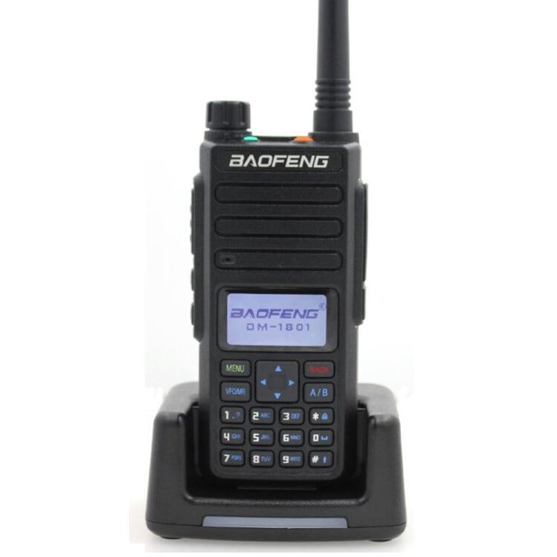 2019 Baofeng DMR DM-1801 иди и болтай Walkie Talkie VHF UHF 136-174 & 400-470 МГц Dual Band dual time slot уровня 1 и 2 цифровое радио DM1801