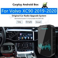 32gb for volvo xc90 2019 2020 car multimedia player android system mirror link map gps navi apple carplay wireless dongle ai box