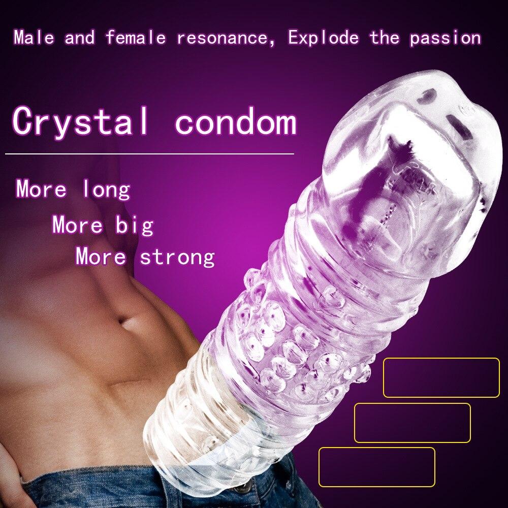 Juguetes sexuales de goma de silicona blanda con manga de pene grande para hombre
