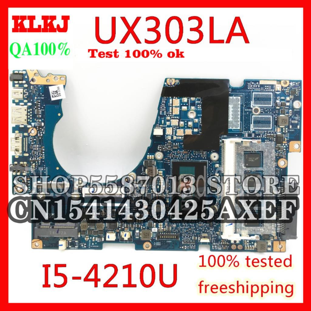 KLKJ UX303LA ل ASUS UX303LN UX303L UX303LA اللوحة المحمول UX303LA اللوحة الرئيسية REV2.0 I5-4210U وحدة المعالجة المركزية اختبار GM العمل 100%