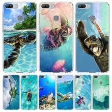 Tortue de mer Aqua pour Huawei Honor 10 9 Lite Y9 Y5 Y6 Y7 2019 8X 8A 8S 7A 7X 10i 20i Pro V30 Dart Coque Capa