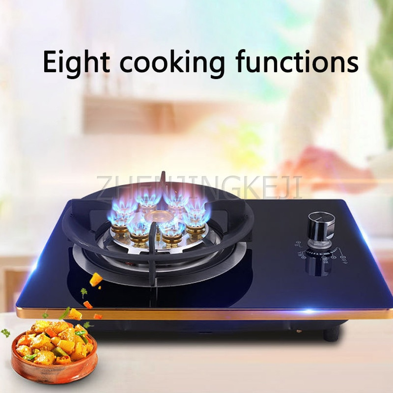 Gas Stove Monocular Embedded Desktop Liquefied Natural Tempered Glass Energy Saving Home Fierce Fire Cooking Kitchenware