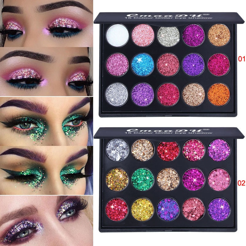 15 Color Glitter Eye Shadow Pallete Pigment Professional Eye Makeup Palette Long-lasting Make Up Eyeshadow Palette Maquillage qibest 9 colors eyeshadow palette glitter eyes palette matte pigment cocktail eye shadow pallete makeup eyes palette cosmetic