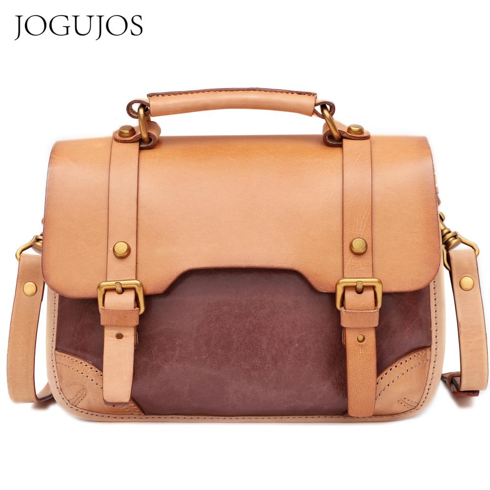 JOGUJOS Retro Bags for Women Female Travel Crossbody Bag High Quality Genuine Leather Handbag Japan Girls Fashion Messenger Bags