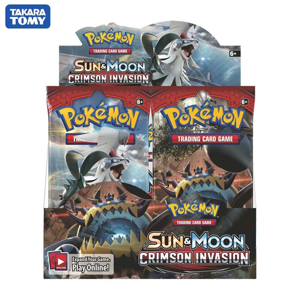 324 tarjetas de Pokemon TCG Sun & Moon Crimson invance Booster Box Trading coleccionables juego de cartas juguetes para niños