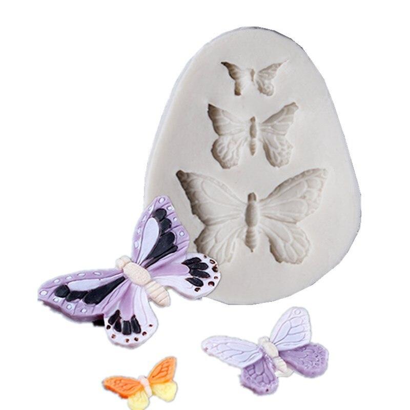 Силиконовая форма для торта в виде бабочки, цветочное печенье, искусственная форма для печенья, инструмент для выпечки, «сделай сам», украше...