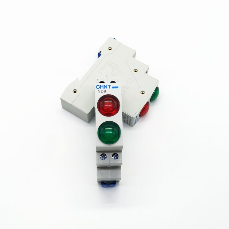CHINT ND9 Pilot Lights LED Red Green Yellow AC/DC 24V 220V Modular DIN Rail Lamp Indicator Light
