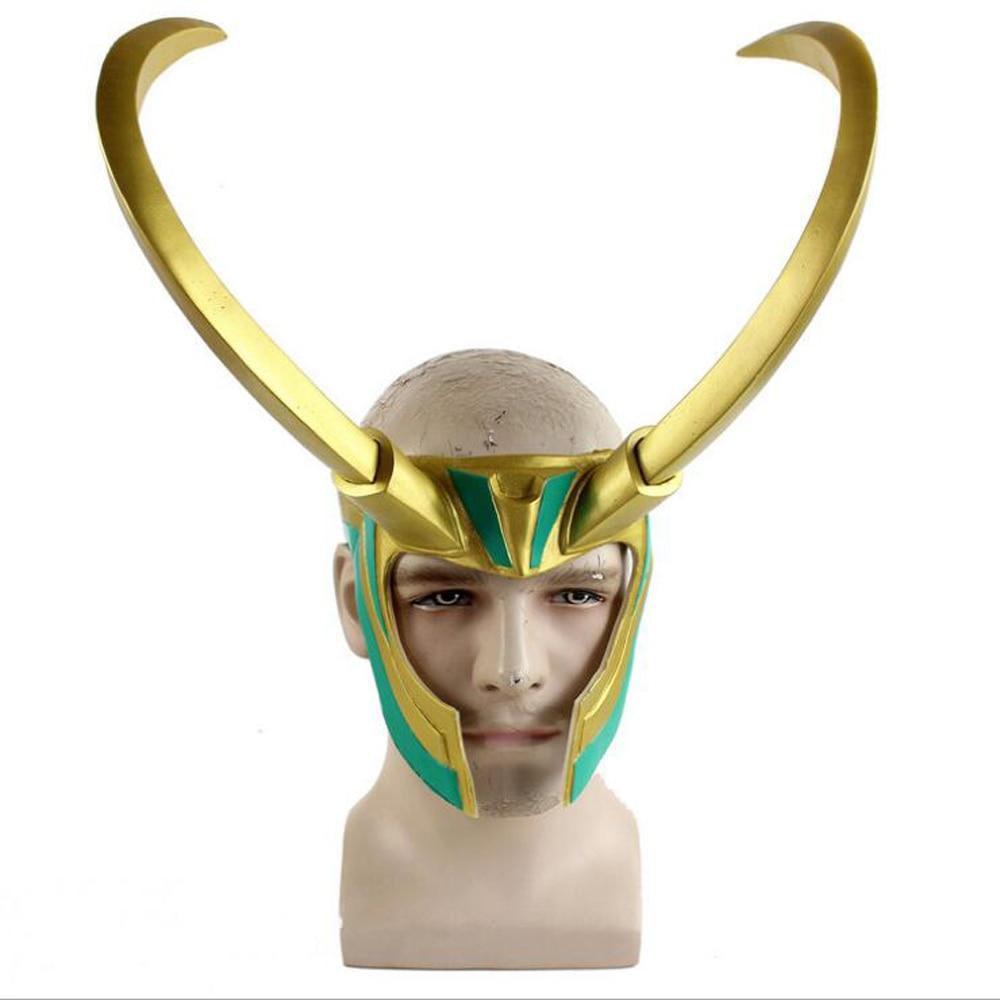 Rocky loki capacete raytheon 3 deuses ao anoitecer cosplay máscara de halloween capacete homem majestoso filme e televisão periferia