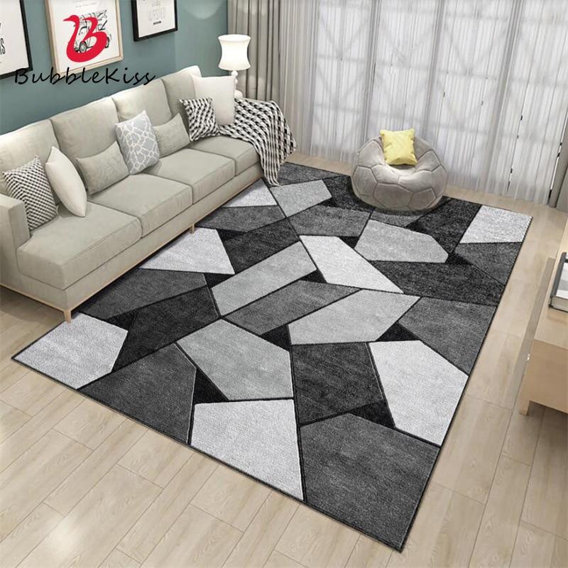Bubble Kiss-سجاد نورديك مخصص ، ديكور رمادي ، هندسي ، لطاولة قهوة ، غرفة نوم ، أريكة ، غرفة معيشة