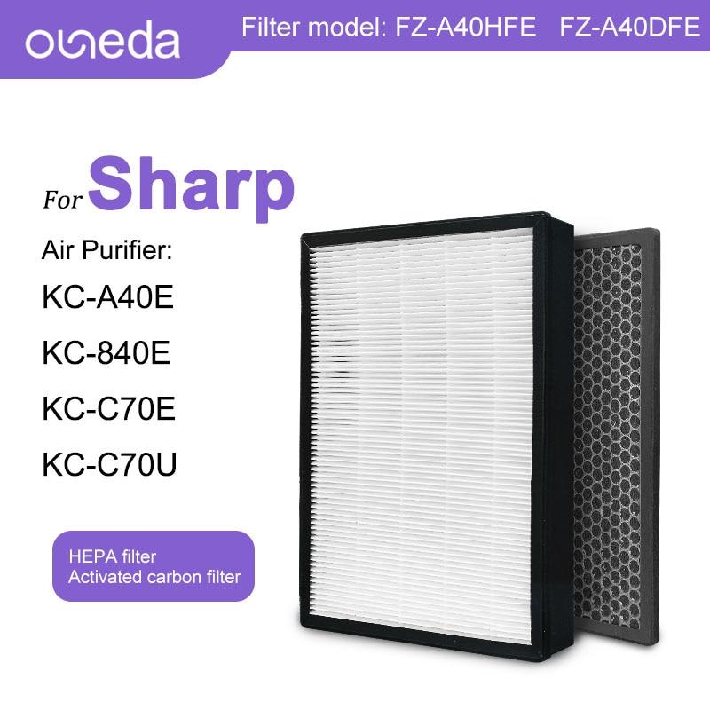 hepa фильтр sharp fz f30hfe для kc f31r 2pcs Sharp Air Purifiers KC-A40E KC-840E KC-A40TA KC-A840TA KC-C70TA KC-A40Y HEPA Filter FZ-A40HFE FZ-A40DFE Deodorizing Filter