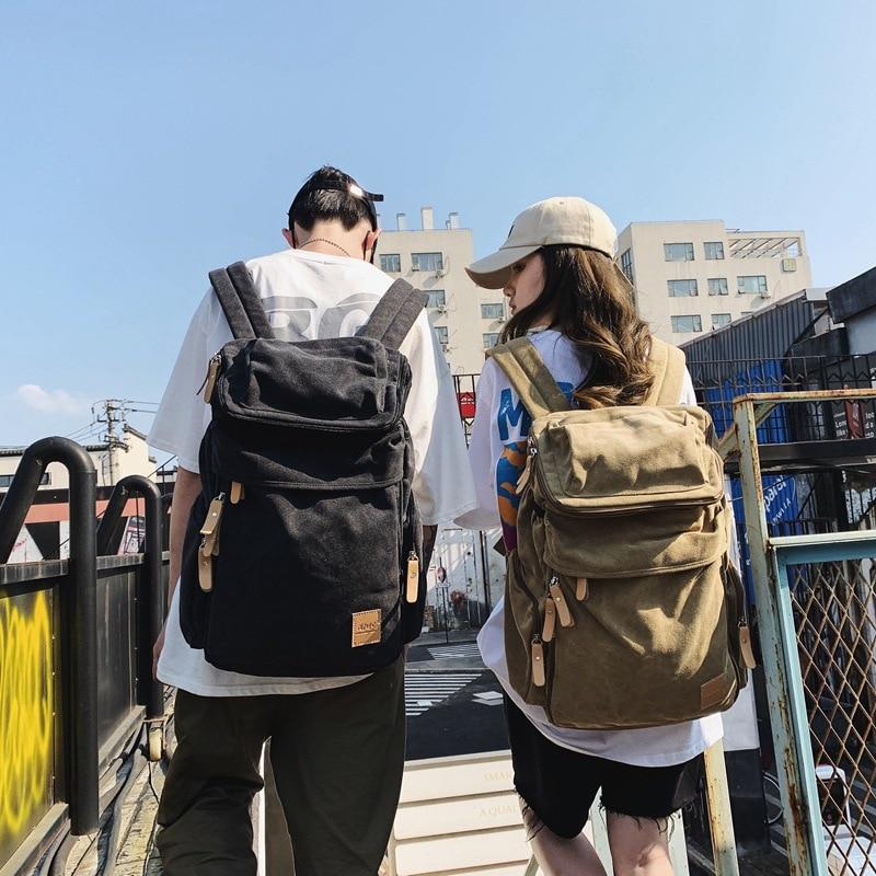 2021 جديد الكورية الرجعية على ظهره تلميذة حقيبة من القماش الرجال في الهواء الطلق الترفيه حقيبة السفر حقيبة تسلق الجبال preppy الرجال bookbag