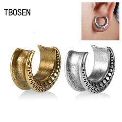 Tbosen frascos e canais de orelha, de cobre, para orelhas, piercing, expansor, joia de estiramento do corpo