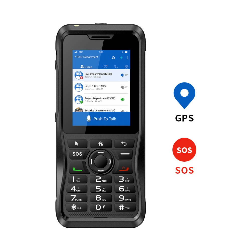 Inrico T310 Cheapest walkie talkie app Mobile Network radio fm NFC GPS Touch Screen poc talk radio for police security