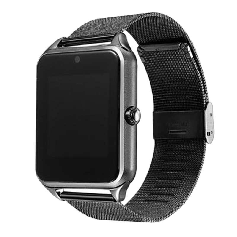Smart Watch Z60 Metal Strap Bluetooth Wrist Smartwatch Support Sim TF Card for Android&IOS Watch Multi-Languages