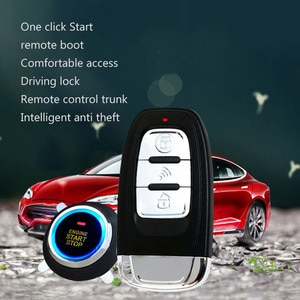 Car Alarm SUV Keyless Entry Remote Engine Start Alarm System Push Button Remote Starter Stop Car Security Accessories