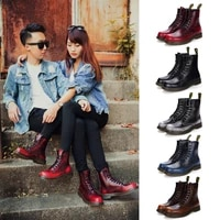 dragon captain new men and women martin boots leather handmade brown couple tooling boots outdoor hiking boots knight boots