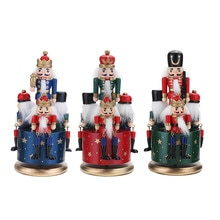 Vintage Wooden Music Box Birthday Gift Gifts For Kids Guard Nutcracker 4 Soldier Toy Musical Box Chr