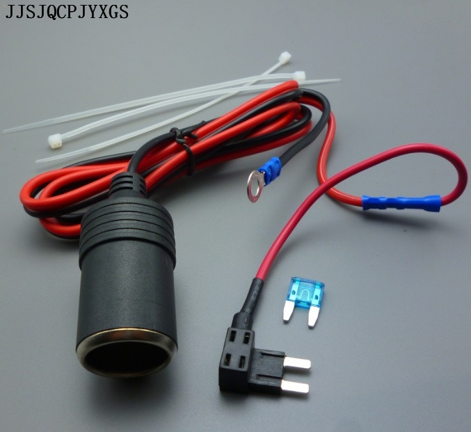 JJSJQCPJYXGS 1M 1,5 mm2 encendedor de cigarrillos para coche 12V extensión Mini fusible Tap titular de plomo