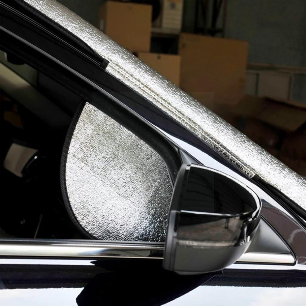 150cm x 70cm Portable Car Universal Sunscreen Windscreen Summer Cover UV Shade Heat Anti Dust Frost Sun Protector J3W2