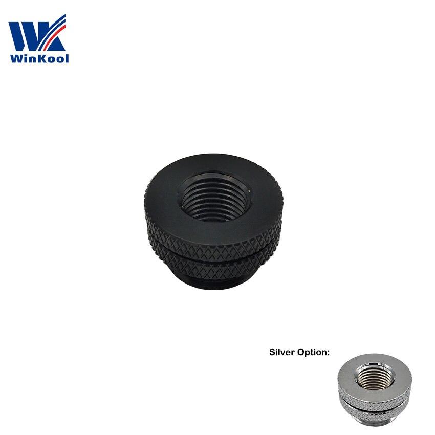 """WinKool G1/4 """", accesorio de paso de mampara/Fillports, negro, plata, opción multicolor, PC de refrigeración por agua"""