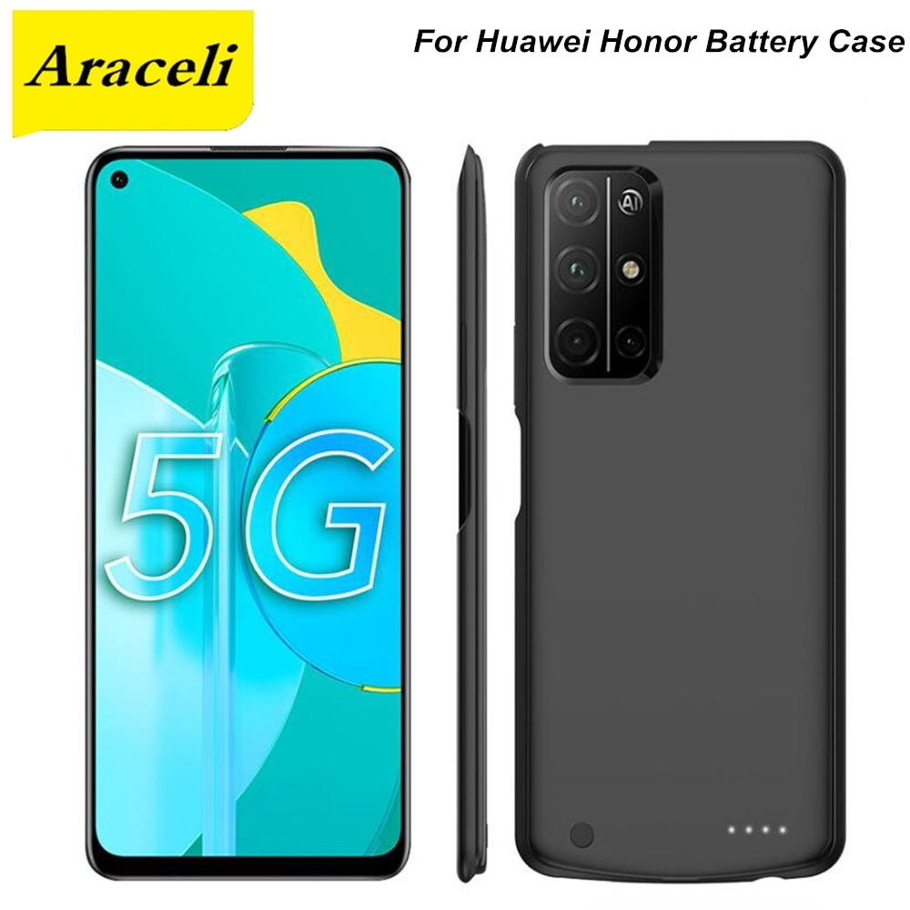 Araceli-جراب بطارية لهاتف Huawei Honor 30 30S 30 Pro X10 Max Play 4T Pro Play 4 pro 3 20 20i 9X Magic 2 V20 V30 Pro ، 10000 مللي أمبير