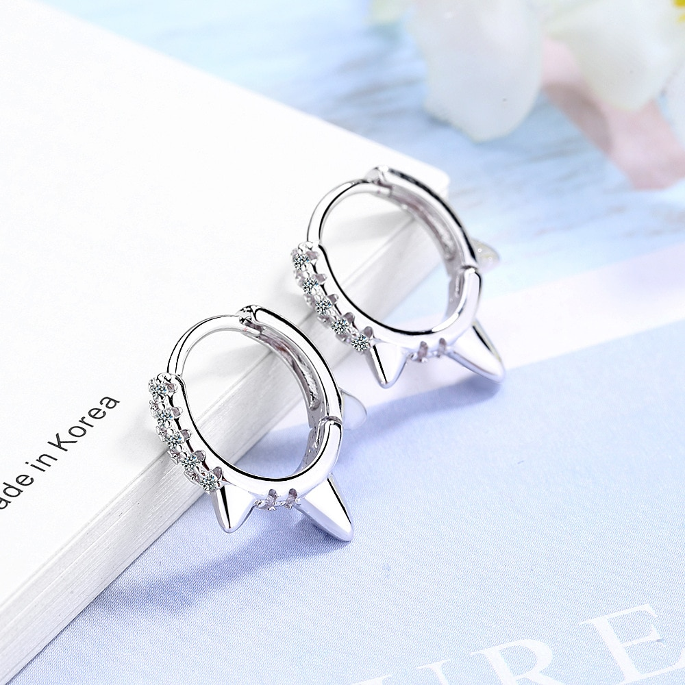 Gothic Punk Rock Rivet Tiny Small Gifts for Girls Men Women Ear Cartilage  Golden Stud Earrings Crystal Minimalist Oorbellen