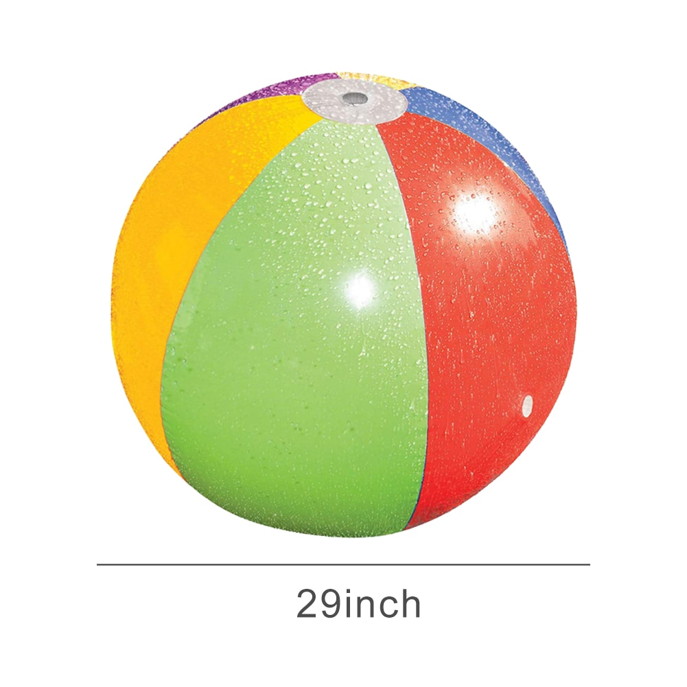 74cm Inflatable Beach Ball Non-fade Durable Spray Water Toy For Children Outdoor Hot Summer Adult Party  - buy with discount