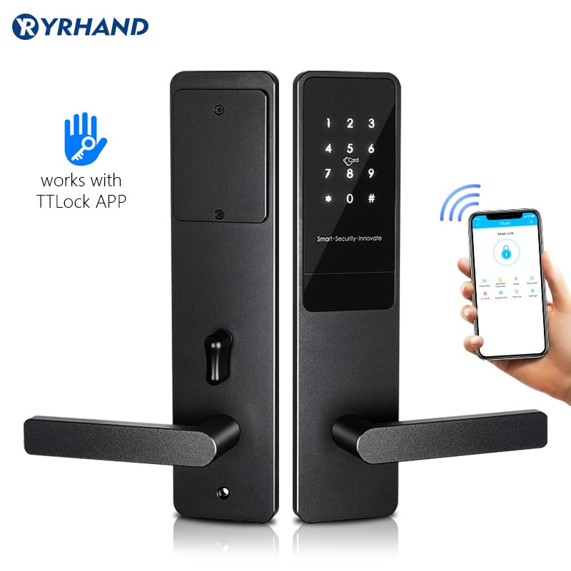 Review TTlock App Electronic Digital Lock Keyless Security Lock Smart Touch Screen Lock For Home/Office/Airbnb Apartment Gate Lock