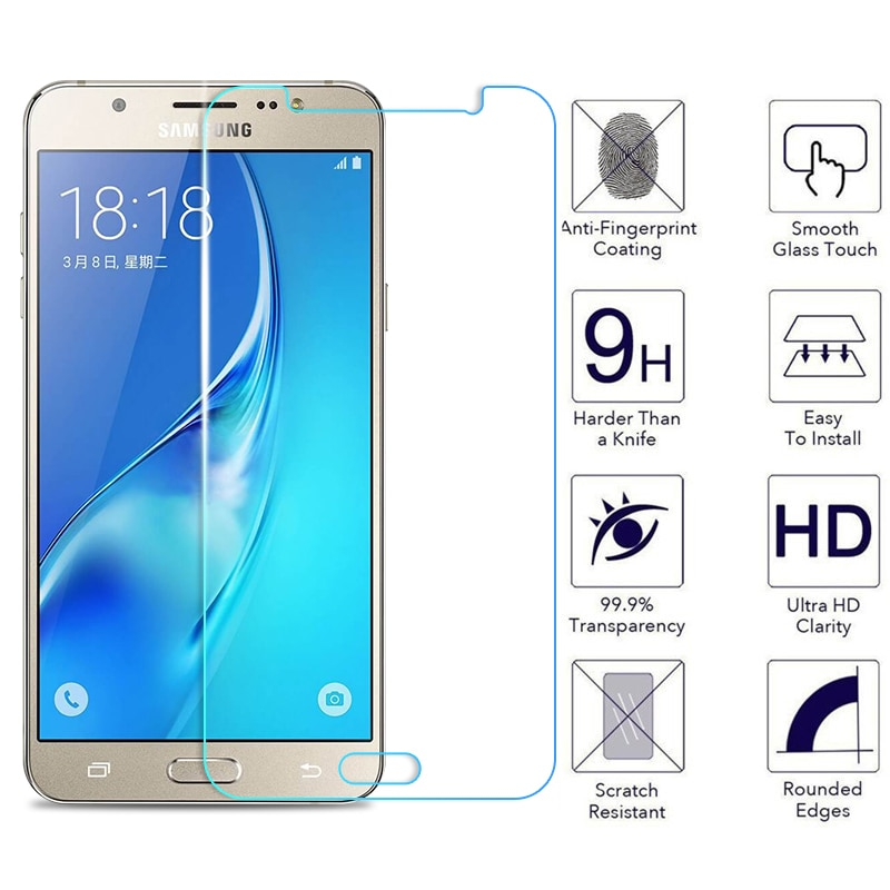 9H HD vidrio templado en El para Samsung Galaxy J3 J5 J7 2017 2016 J5 J7 J2 primer Pro protector de pantalla de vidrio de protección de película 2018