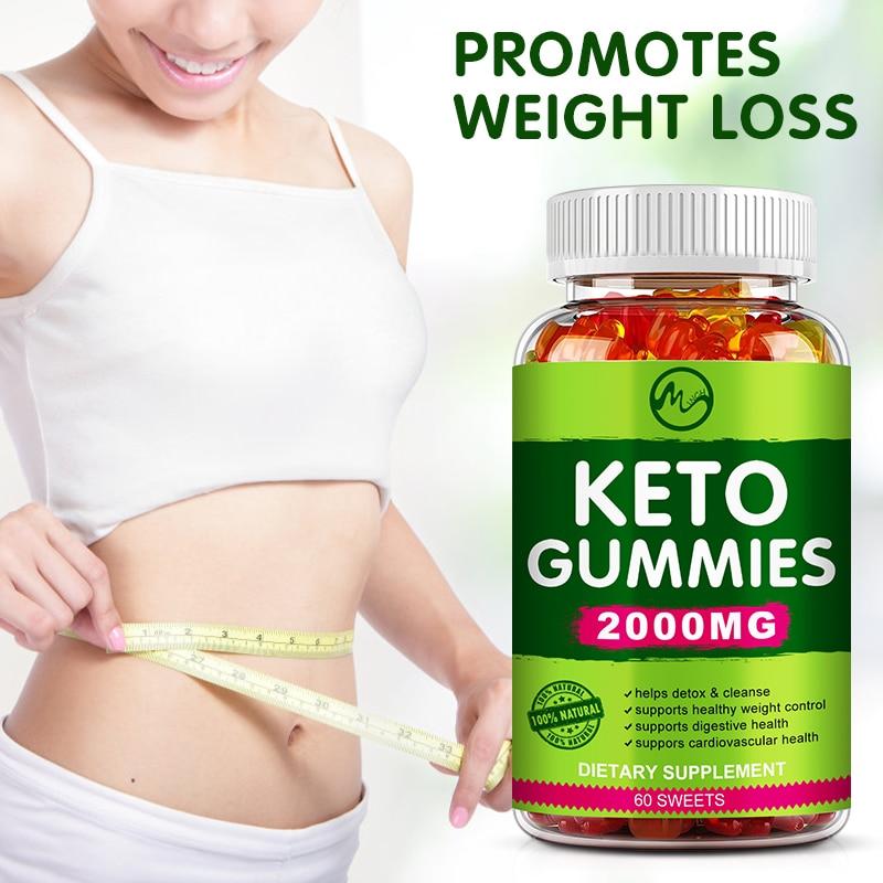 Minch Slimming Ketone Gummies Weight Loss Products Green Apple Cider Vinegar Keto Bear Gummies For Men and Women Fat Burner