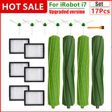 Side Brushes & Roller Brushes & Hepa Filters for iRobot Roomba i7 i7+ E5 E6 I Series Robot Vacuum Cleaner Parts Replacement Kit