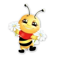 decor motorcycle decals a happy little bee decorative accessories creative sunscreen waterproof car stickers pvc18cm14cm