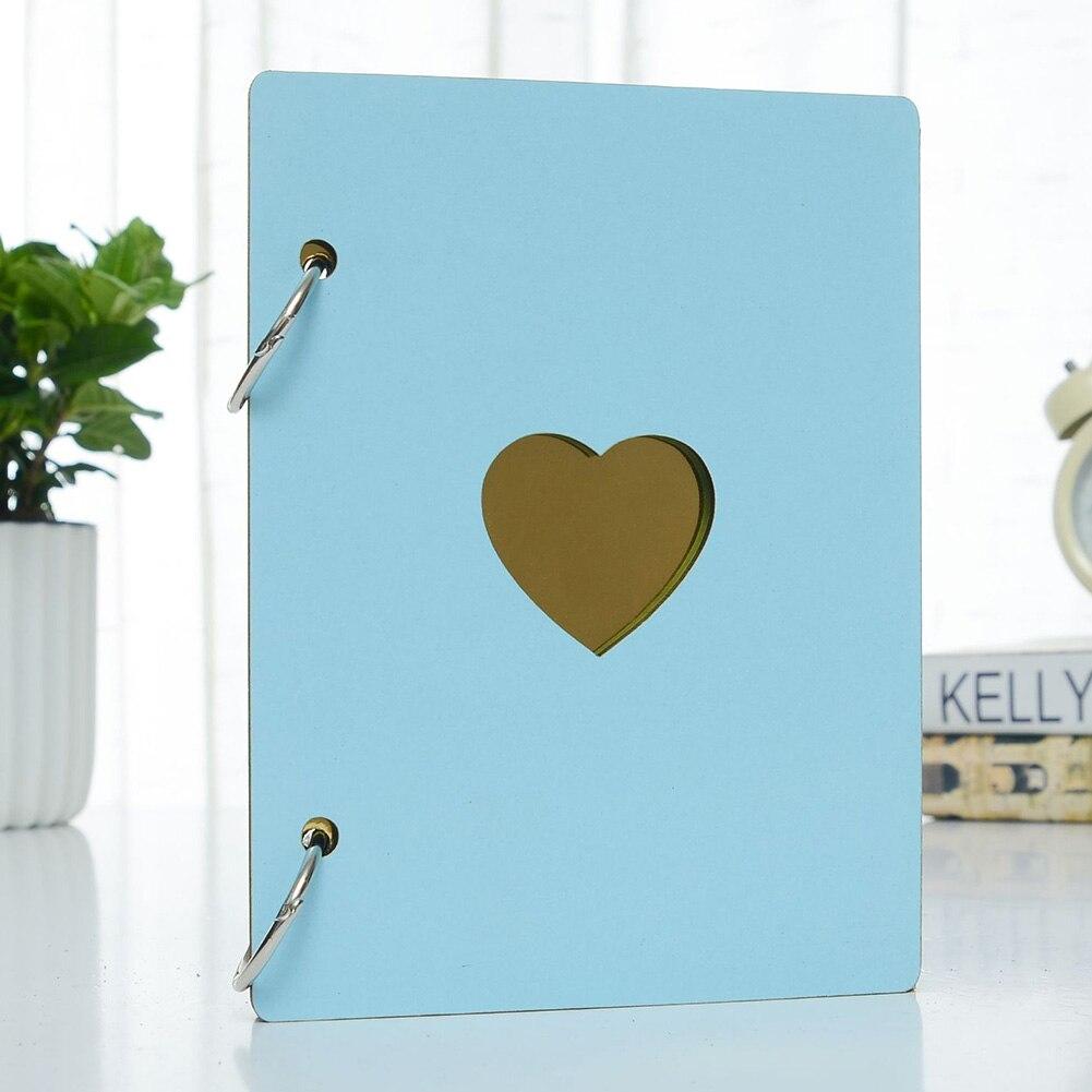 6 pulgadas, decoración de bloc de notas, registro del corazón del amor, crecimiento del bebé, funda de madera DIY, regalos de viaje, artesanía, álbum de fotos, aniversario, recuerdo familiar