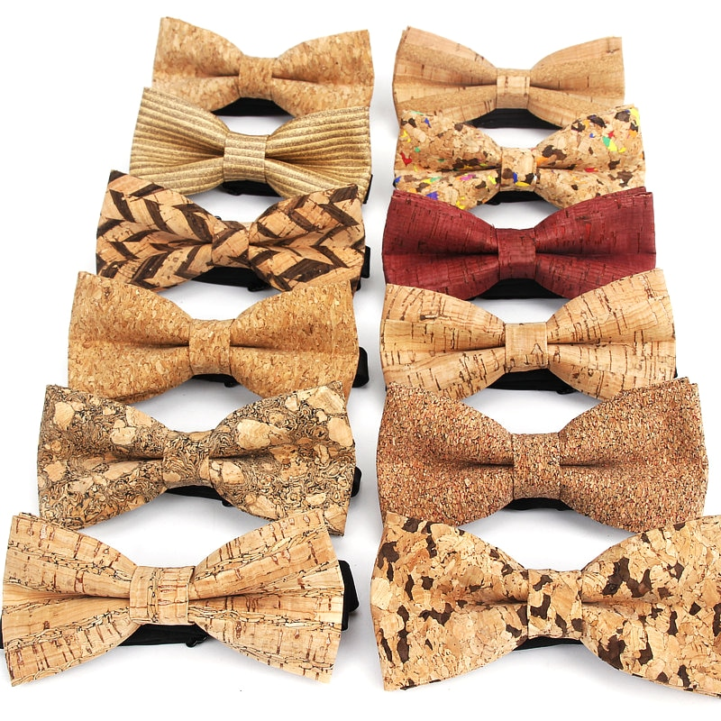 AliExpress - New Cork Wood Fashion Bow Ties Mens Novelty Handmade Solid Neckwear for Mens Wedding Party Man Gift Accessories Men Bowtie