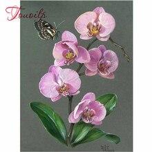 Décoration de chambre denfants 5d bricolage diamant peinture papillon et fleur diamant broderie pleine carrée ronde mosaïque
