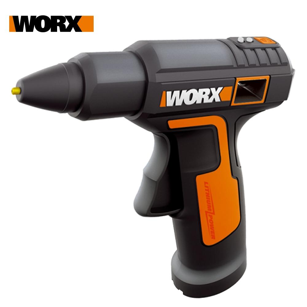 Worx 4V Melt Hot Glue Gun WX890 Electric glue gun Rechargeable Wireless Repair Tool Heat Mini Gun 7mm Glue Stick Household Tool