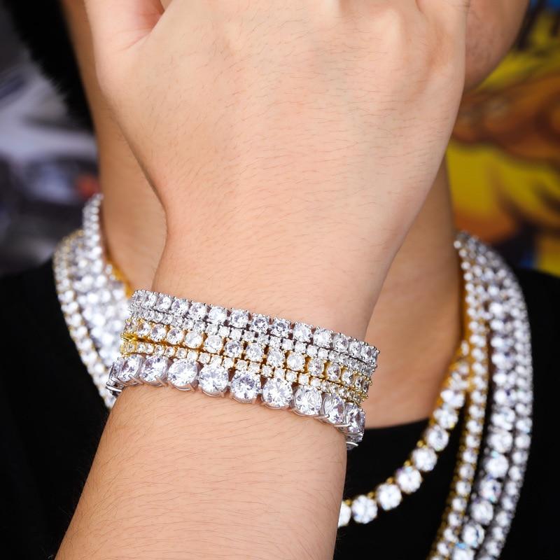 OTIY 925 Sterling Silver 3mm VVS D F Moissanite Chain Bracelet 7