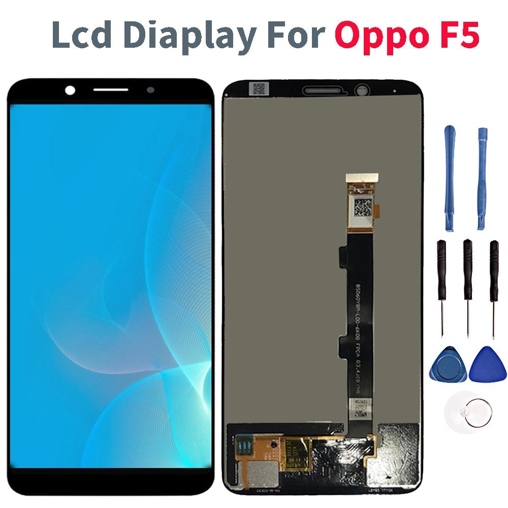 DIsplay Lcd Para Oppo F5 Completa LCD Screen DIsplay Toque Digitador Assembléia Para Oppo F5 A73 A75 A75S CPH1727 CPH1723