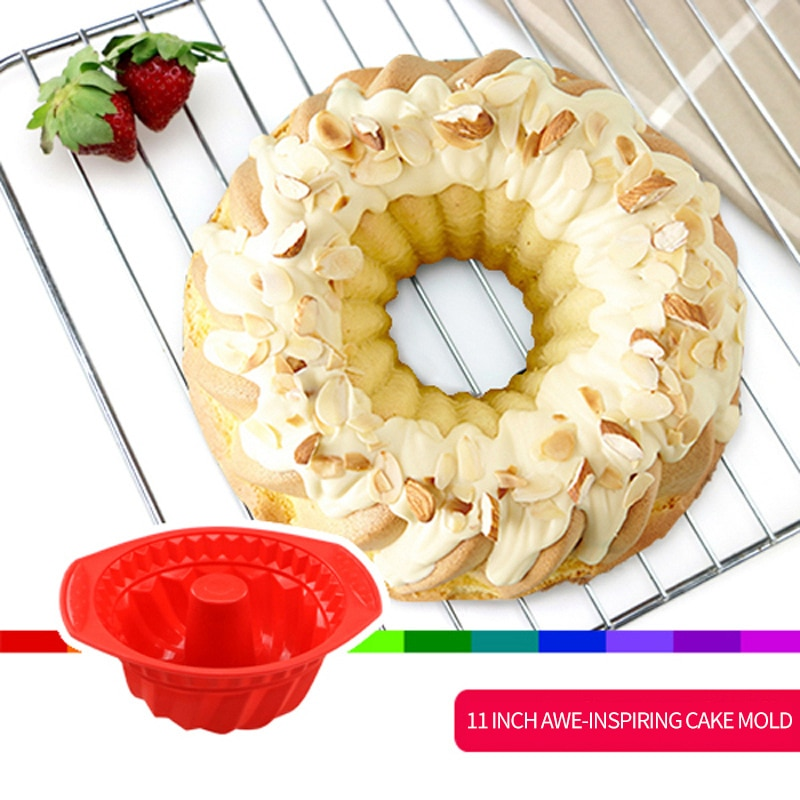Food Grade Silicone Chiffon Cake Mold Birthday Cake Mold 230 Degrees Temperature Resistance Baking Utensils Diy Mold JYZ