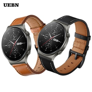 UEBN Genuine leather strap for Huawei Watch GT 2 Pro Band for Watch GT 2 42mm 46mm GT 2e & Honor ES Bracelet Watchband