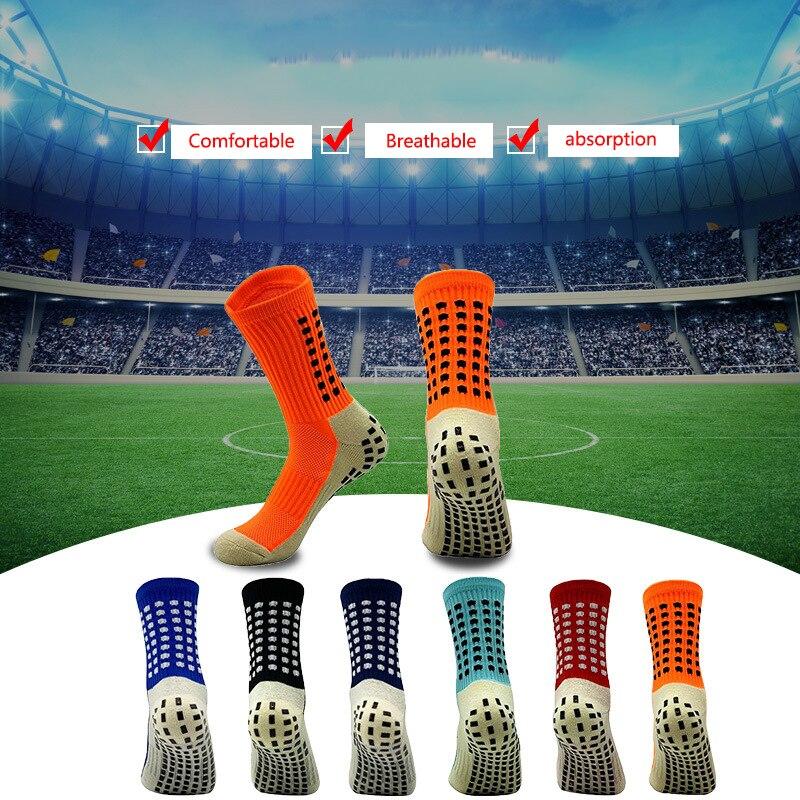1 пара Для мужчин Футбол носки Профессиональный Нескользящие Футбол носки для верховой езды велосипедные спортивные носки из дышащего нейл...