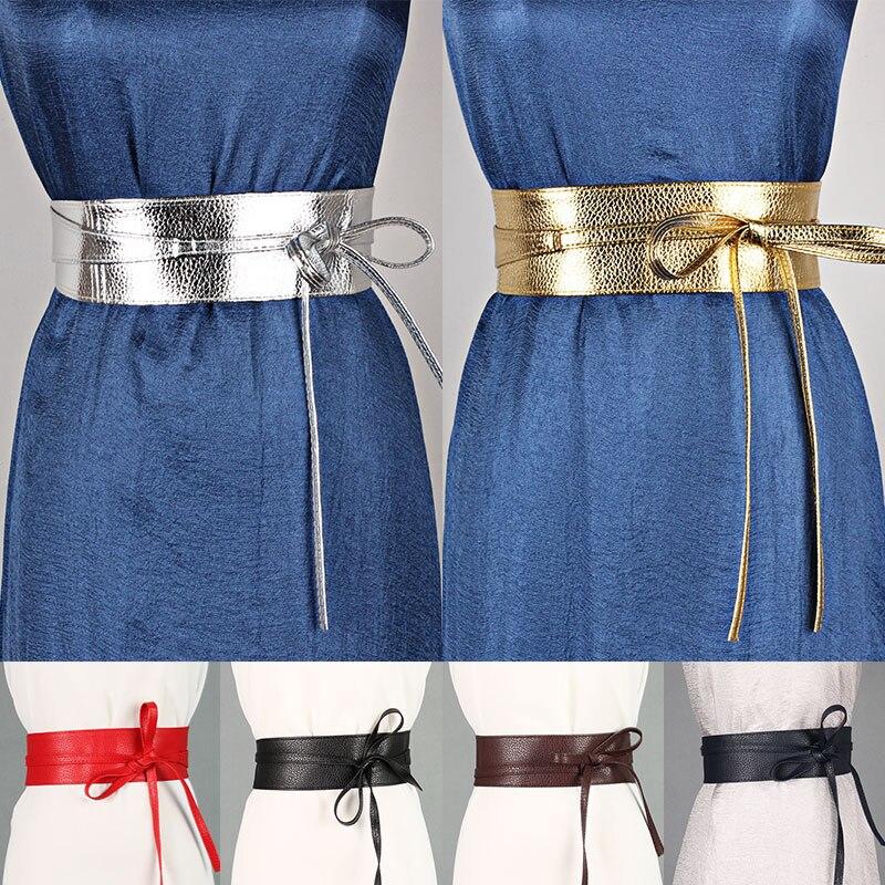 Стильный ремень в виде банта, изысканный Универсальный стильный аксессуар для одежды из искусственной кожи, широкий пояс с бантом