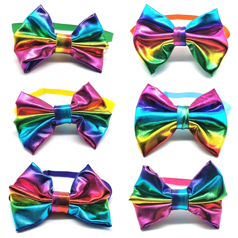 new-colorful-rainbow-pet-dog-bowties-accessories-pet-necktiescollar-bows-for-middle-big-dog-grooming-supplies-pets-acessorios