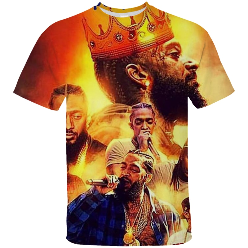 T-Shirts Kids Nipsey Hussle 3d Design T Shirt Boys/Girls Funny Kawaii Short Sleeve Tops Tees Clothing Childrens T-Shirt