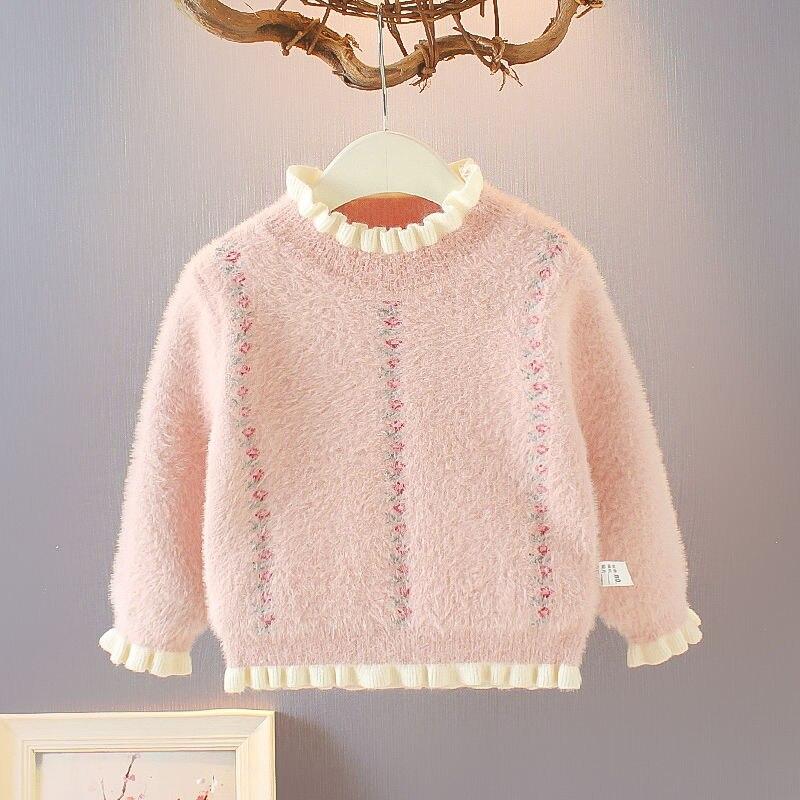 Jerséis de invierno para niñas, jerséis para niñas de 2, 4, 6, 8 y 10 años, jerséis de punto para niños pequeños, cárdigans de estilo coreano cálidos para niños
