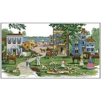 mississippi memories patterns counted cross stitch 11ct 14ct 18ct diy chinese cross stitch kits embroidery needlework sets