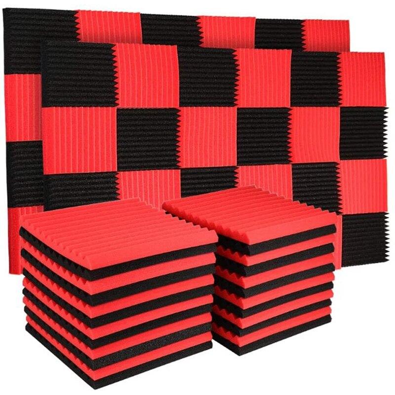 حار مقاومة للحريق عالية الكثافة الصوت واقية من القطن الصوت وسادة من اسفنج الفوم الجدار مواد الديكور امتصاص الصوت ، 24 قطعة